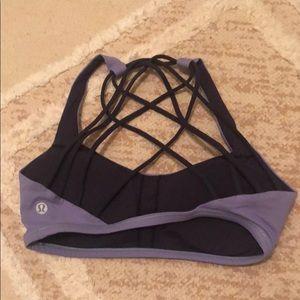 Lululemon purple crisscross back bra